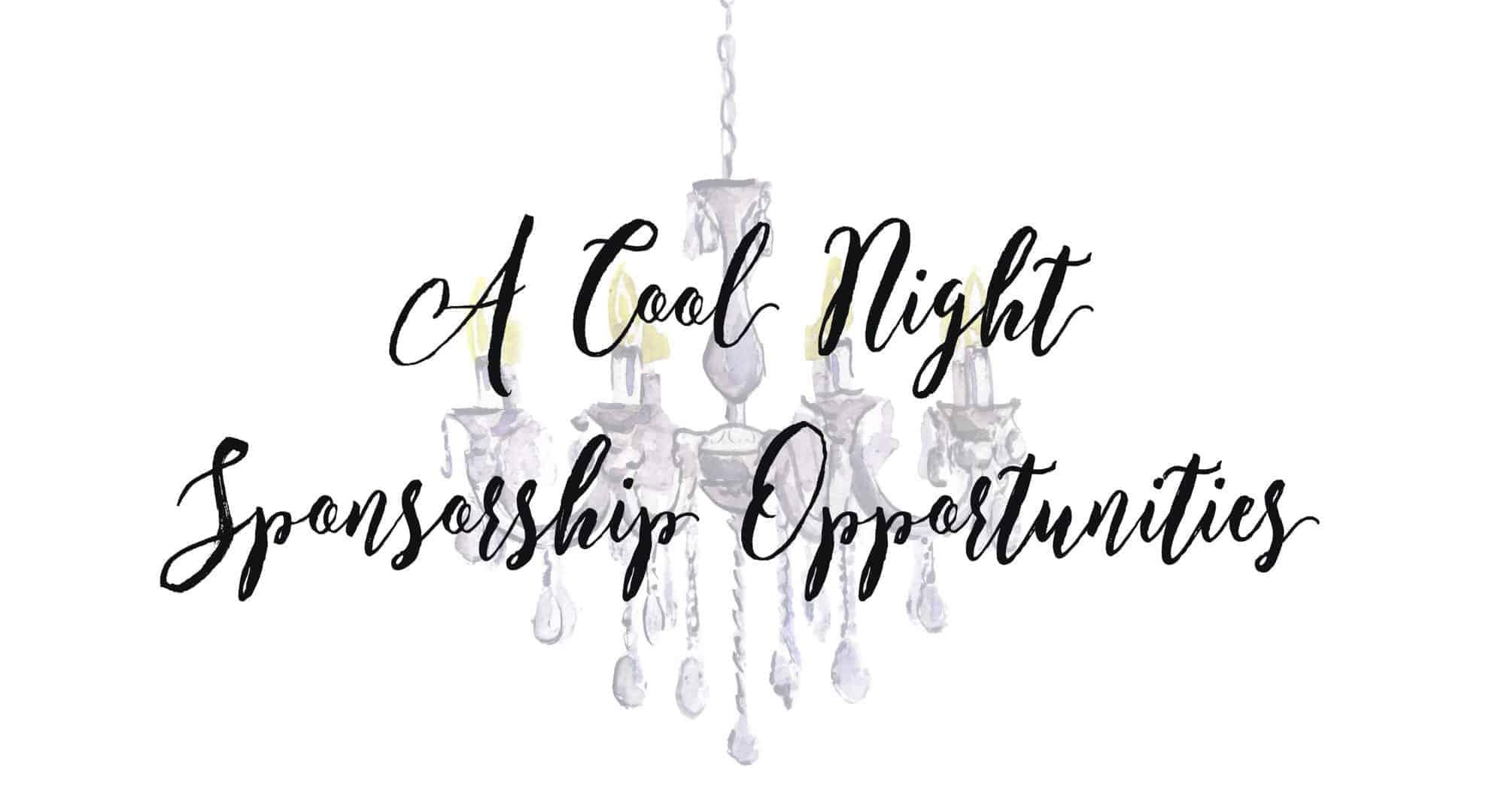 a cool night sponsor opps