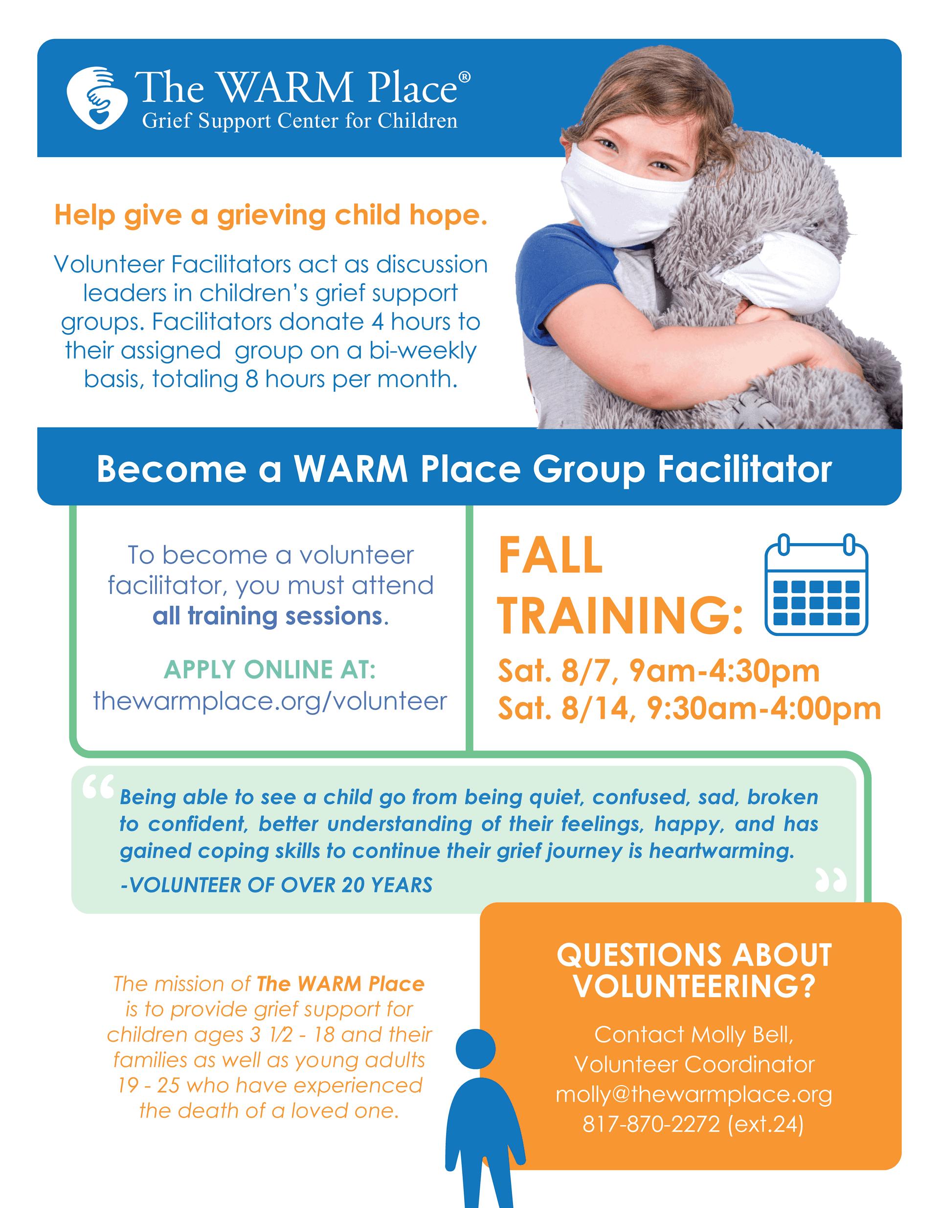 Fall 2021 Volunteer Training